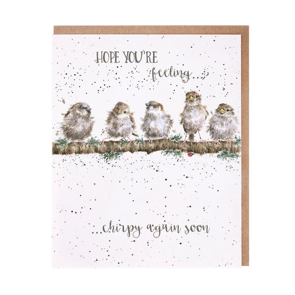 Wrendale 'Feeling Chirpy' Get Well Card