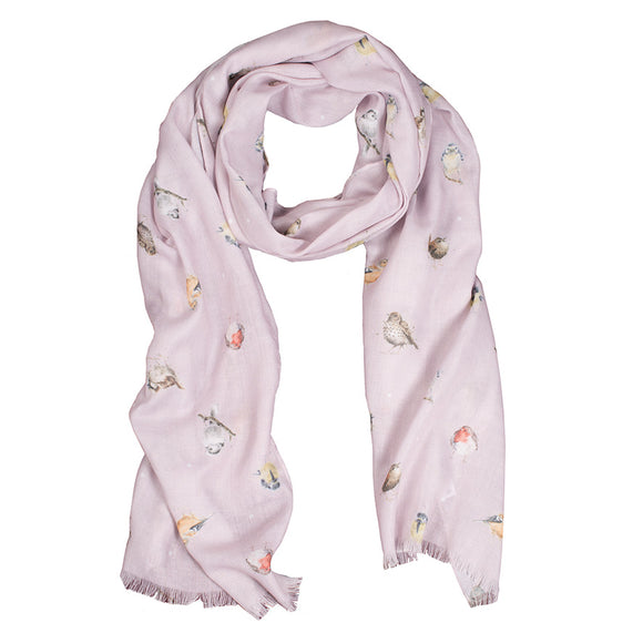 Wrendale Garden Birds Scarf with Gift Bag