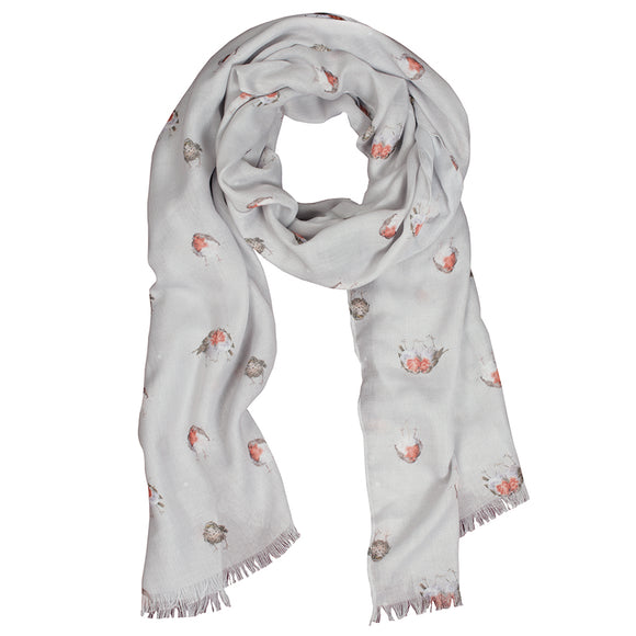 Wrendale Jolly Robin scarf with Gift Bag