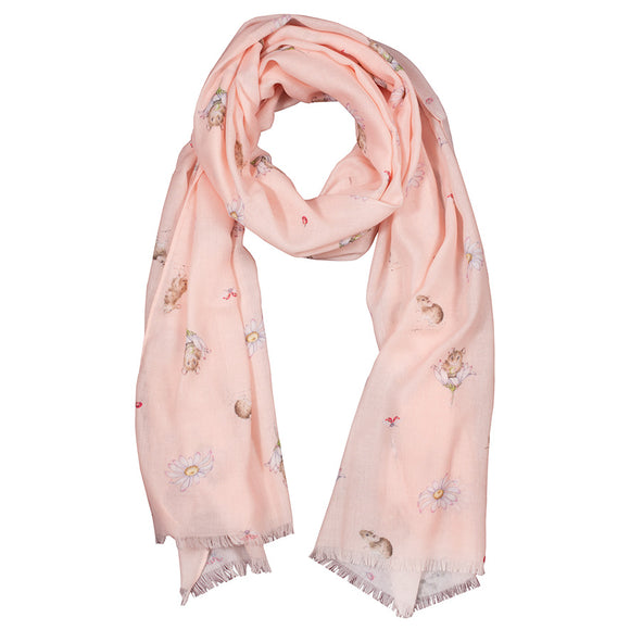 Wrendale 'Oops A Daisy' Mouse Scarf with Gift Bag