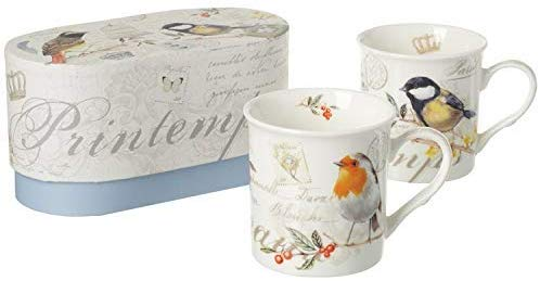 Stow Green A Pair of Song Bird Porcelain Mugs - Gifteasy Online