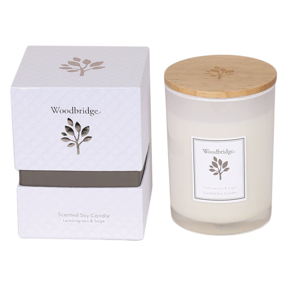 gifteasyonline - Aromatize Woodbridge Medium Lemon Grass & Sage Soy Candle - Aromatize - Candles