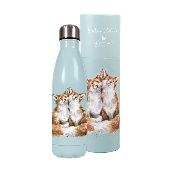 Wrendale Water Bottle 'Contentment' Fox Design