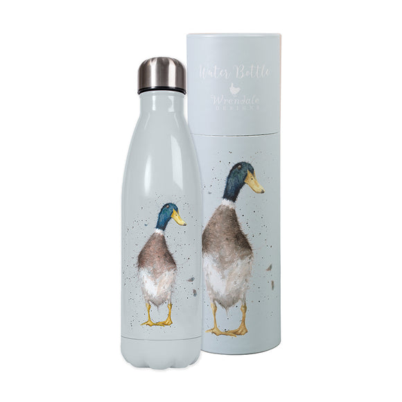 Wrendale Water Bottle 'Guard Duck' Duck Design