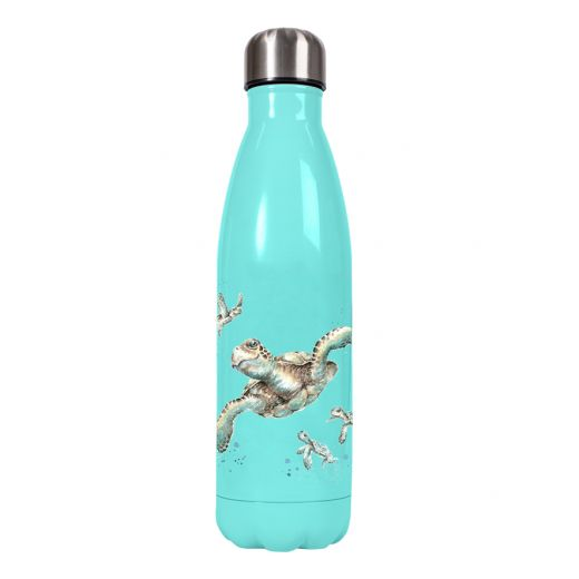 Wrendale  'Swimming School' turtle water bottle