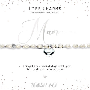 Life Charms Mum of the Bride Bracelet - Gifteasy Online