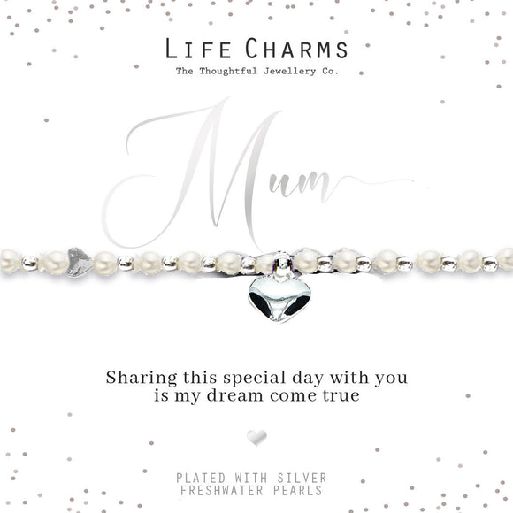 gifteasyonline - Life Charms Mum of the Bride Bracelet - Life Charms - Bracelet
