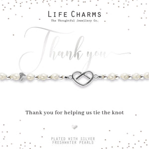gifteasyonline - Life Charms Thank You for Helping Us Tie The Knot Bracelet - Lifes Charms - Bracelet