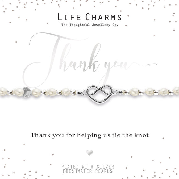 Life Charms Thank You for Helping Us Tie The Knot Bracelet