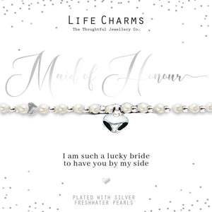 Life Charms Thank You for Being my Maid of Honour Bracelet