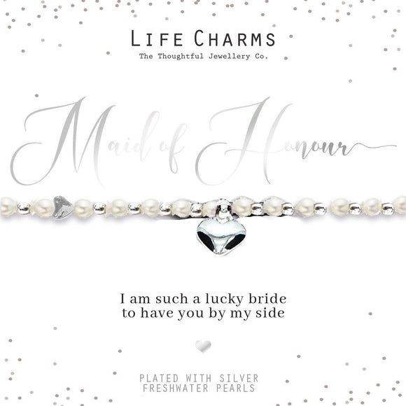 gifteasyonline - Life Charms Thank You for Being my Maid of Honour Bracelet - Life Charms - Bracelet