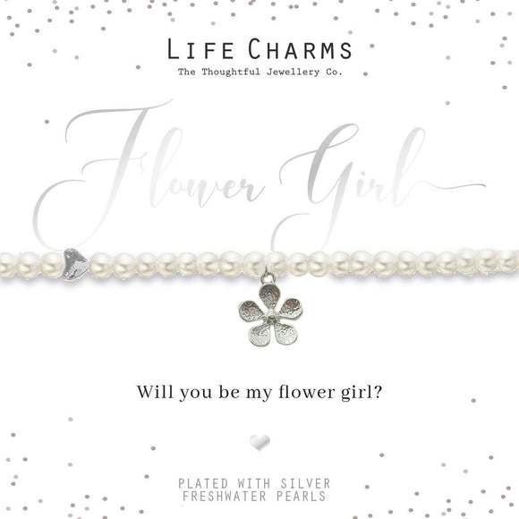 gifteasyonline - Life of Charms Will You Be my Flower Girl Bracelet - Life Charms - Bracelet