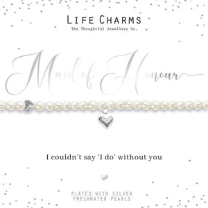 gifteasyonline - Life Charms Will You Be My Maid of Honour Bracelet - Life Charms - Bracelet