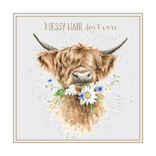 Wrendale 'Messy Hair' Card