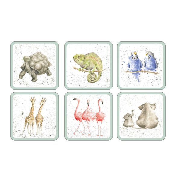 Portmeirion Pimpernel Wrendale Zoological Coaster set of 6