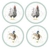Portmeirion Pimpernel Wrendale Hare Coasters set of 6