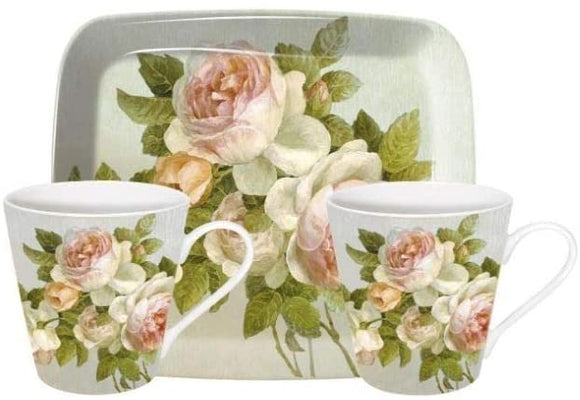 Pimpernel Antique Rose Mug and Tray Set