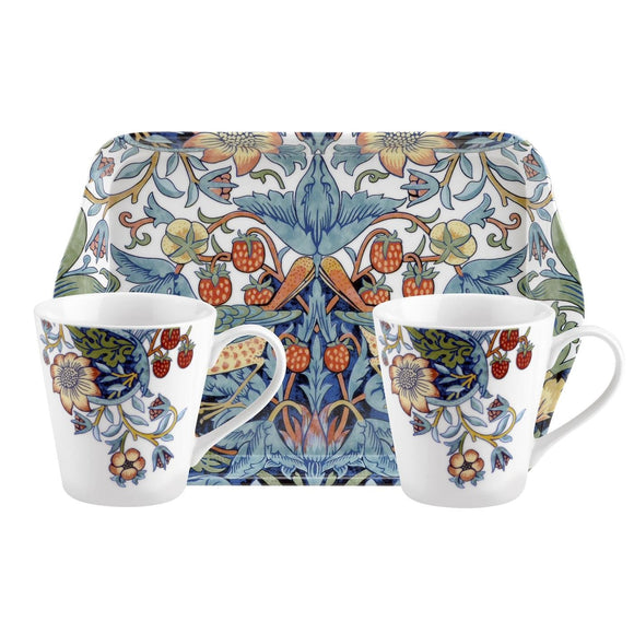 Strawberry Thief Mug and Tray Set - Gifteasy Online