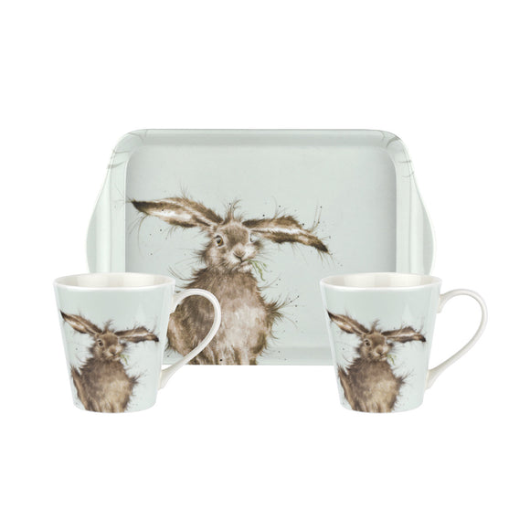 Pimpernel Hare Mug and Tray Set