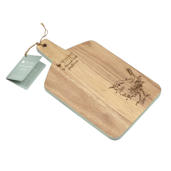 Pimpernel Wrendale Medium Wooden Chopping Board Wren Design - Gifteasy Online
