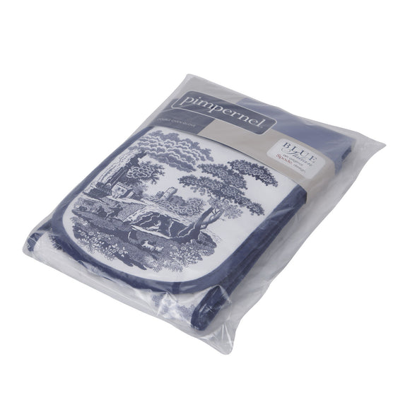 Portmeirion Pimpernel Blue Italian Double Oven Glove