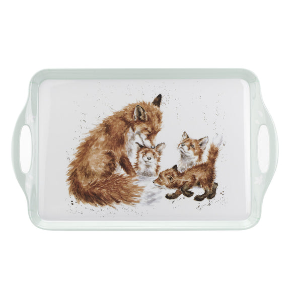 Wrendale Large Handle Tray Fox Design