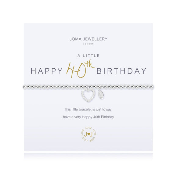 A Little 40th Birthday Bracelet By Joma Jewellery