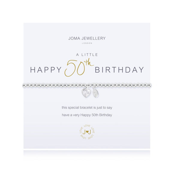 A Little 50th Birthday Bracelet By Joma Jewellery