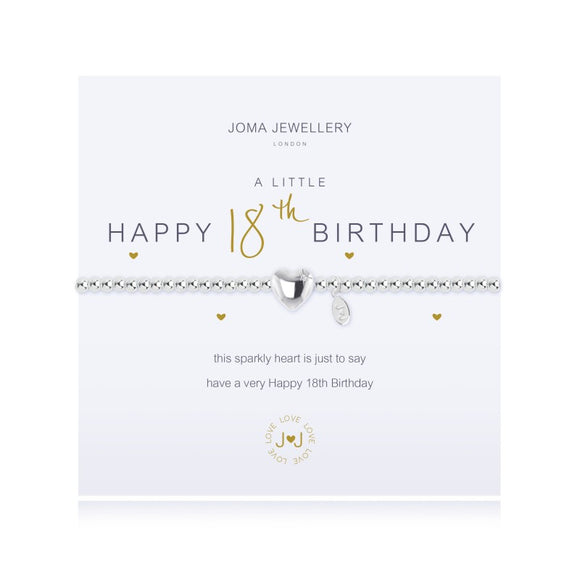 A Little Happy 18th Birthday Silver Bracelet By Joma Jewellery