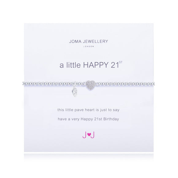 Joma Jewellery A Little Happy 21st Birthday Bracelet - Gifteasy Online