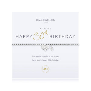 A Little 30th Birthday Bracelet By Joma Jewellery