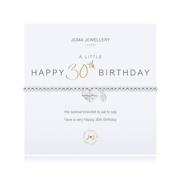 A Little 30th Birthday Bracelet By Joma Jewellery - Gifteasy Online