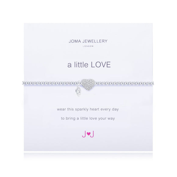 A Little Love Sparkly Heart Bracelet By Joma Jewellery