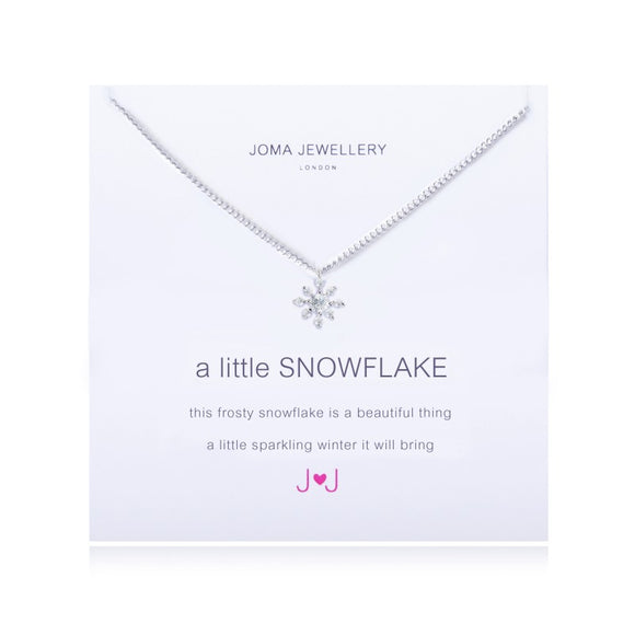 A Little Snowflake Necklace By Joma Jewellery