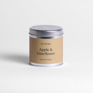 St Eval Apple and Elderflower Scented Tin Candle