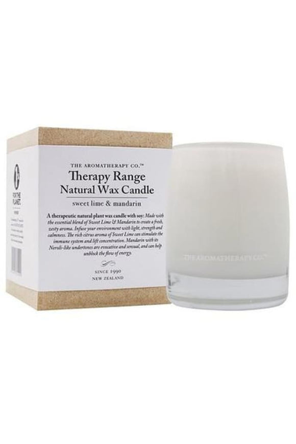 Aromatherapy  Therapy Range Scented Wax Candle Sweet Lime and Mandarin