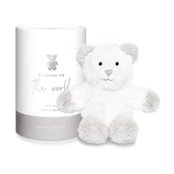 Katie Loxton Bear Baby Toy Welcome to the World Grey - Gifteasy Online