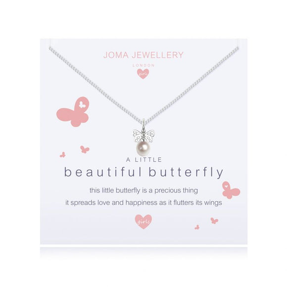 Joma Jewellery A Little Beautiful Butterfly Necklace