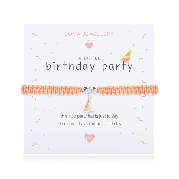 Joma Jewellery A little Birthday Party Bracelet Children's with Gift Bag and Tag