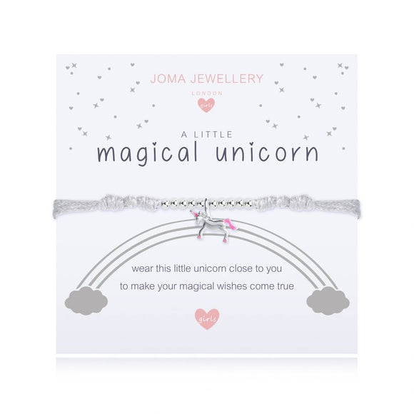 Joma Jewellery A little Magical Unicorn Bracelet Children's