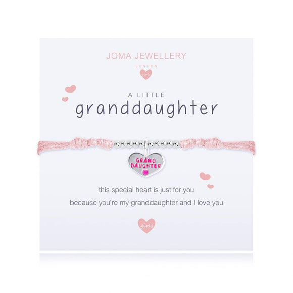 Joma Jewellery A Little Granddaughter Pink Bracelet