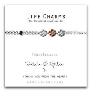 Life Charms Diolch O'r Galon Blt - Welsh
