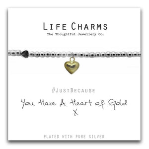 Life Charms Heart of Gold Bracelet