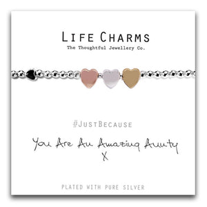 Life Charms You Are An Amazing Aunty Bracelet