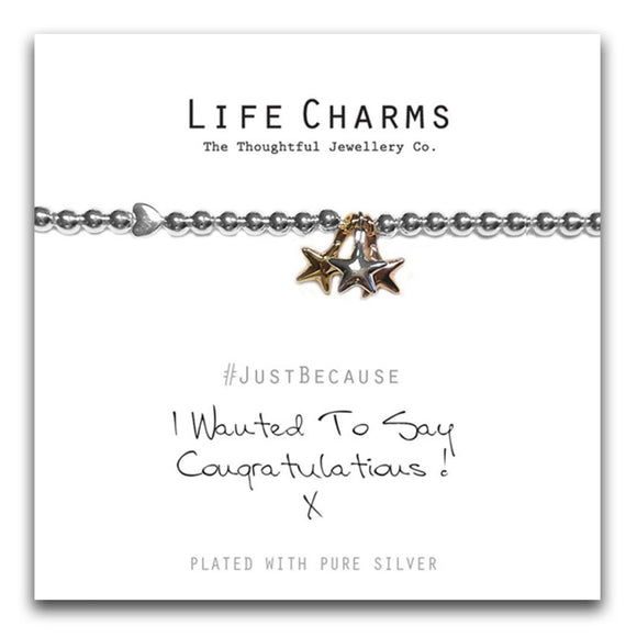 Life Charms Congratulations Bracelet - Gifteasy Online
