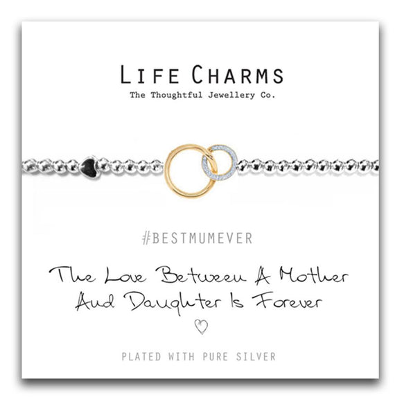 Life Charms Love Between Mother & Daughter Bracelet - Gifteasy Online