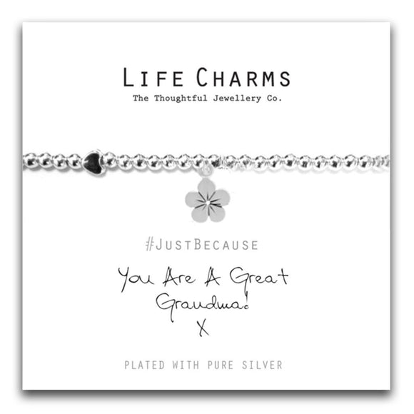 Life Charms You Are A Great Grandma Bracelet