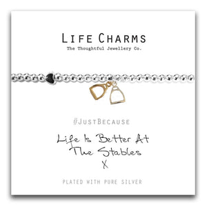Life Charms Life is Better at the Stable Bracelet - Gifteasy Online