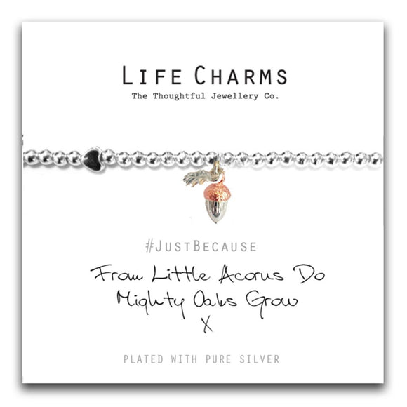 Life Charms From Little Acorns Do Mighty Oaks Grow
