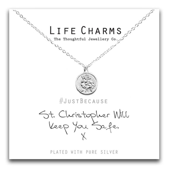 Life Charms St Christopher Necklace - Gifteasy Online